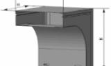 Короба угловые вертикальные вниз 90° серии СП