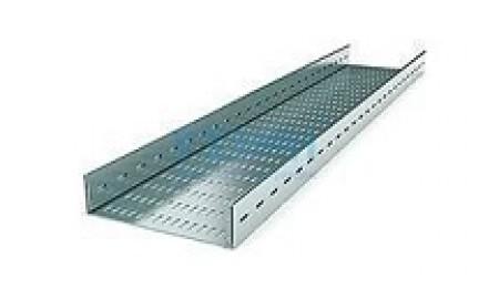 Лоток прямой перфорированный НЛП 500х60 П2,0=2000 УТ1,5 S=0,8 мм.