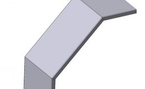 Крышка угловая вертикальная вниз НЛК 200 У45Н УТ1,5 S=1,0