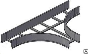 Лоток тройниковый лестничный НЛ-Т 40х5 УТ1,5 S=1,2